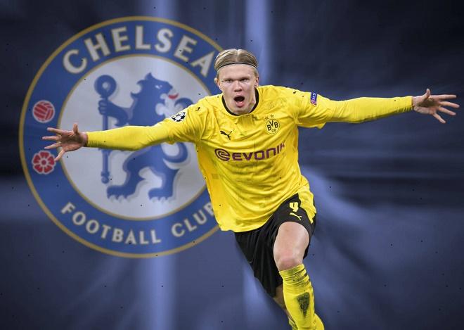 """Chelsea """"phá két"""" 145 triệu euro mua Haaland chấn động Ngoại hạng Anh-Bóng  đá 24h"""
